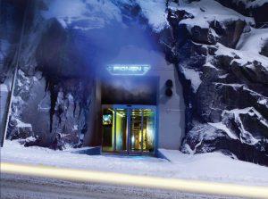 مرکزداده بانهوف در استکهلم در ۳۰ متری زیر زمین در پناهگاه هستهای