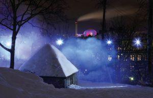 مرکزداده زیرزمینی بانهوف برای گرم نکردن کوههای پیرامون، بهجای زمینگرمایی از سرمایش طبیعی بهره میبرد