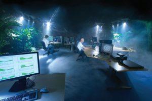 فضای سبز درون مرکز عملیات شبکه در مرکز دادهٔ بانهوف