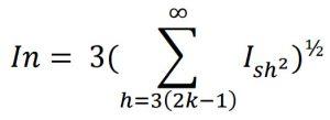 فرمول محاسبهٔ مقدار موثر جریان نول در بارهای غیرخطیِ تعدیلشده