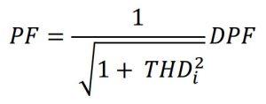 فرمول محاسبهٔ ضریب توان کلی مدار دارای تنوع بار