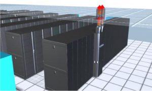 روش سرمایش با هواکش رک در سالن فاوای مرکز داده