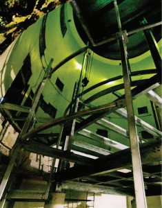 سازهٔ فلزی سه طبقهٔ مرکزدادهٔ Calcul Quebec در اولین مراحل ساخت