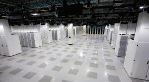 یکی از دو سالن سرور مرکز دادهٔ سیسکو در آلن