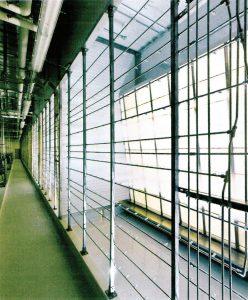 سیستم رطوبتزای مرکز داده فیسبوک، دارای نمگیر برای گرفتن قطرات آب در هوا