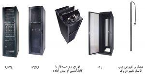 نمونهٔ سیستم انطباقپذیر برق رک مرکز داده