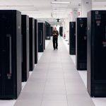 سالن سرور در مرکز داده IBM در پارک مثلث تحقیقاتی