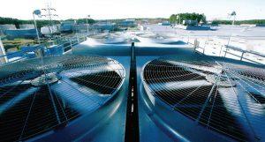 فنهای برج سرمایشی مرکز داده IBM در پارک مثلث تحقیقاتی