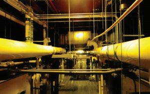 لوله کشی آب سرد در مرکزداده Intel در ریورانچو