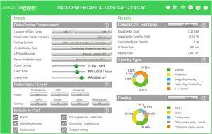محاسبهٔ هزینه ساخت مرکز داده با نرمافزار شرکت اشنایدر: سرمایش