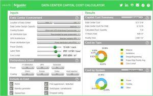 محاسبهٔ هزینه ساخت مرکز داده با نرمافزار شرکت اشنایدر: هزینهٔ سیستم