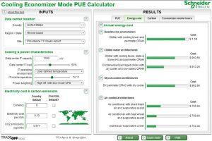 ابزار محاسبهگر صرفهجویی سرمایش مرکز داده برای حالت PUE